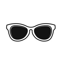 cool eyeglasses simple flat design vector image