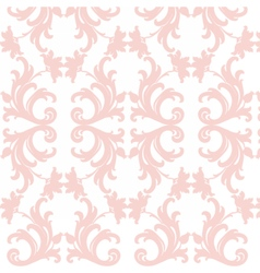 Damask luxury floral pattern vector image