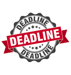 Deadline stamp sign seal vector