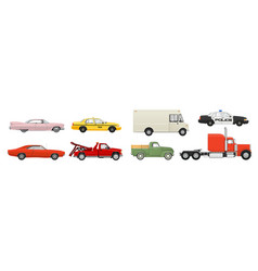 different cars set vector image