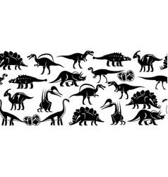 dinosaurus seamless pattern banner vector image