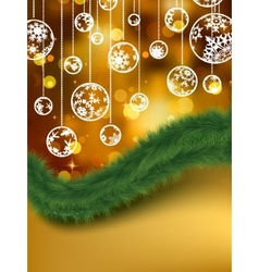Elegant golden christmas background eps 8 vector