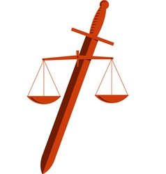 Emblem of Justice vector image