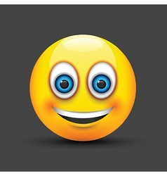 emoji smiling blue eyes vector image