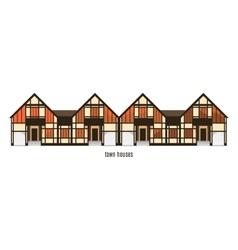 Flat house icon isolated on white background vector image