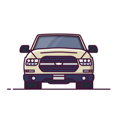 front view offroad car vector image