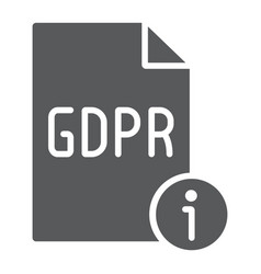 gdpr info glyph icon personal and privacy vector image