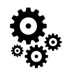 Gears and cogs in black and white styles vector