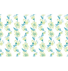 Hand drawn shabby floral seamless pattern vector