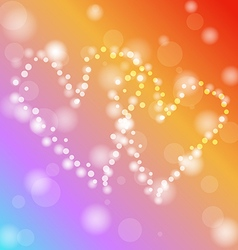 heart with defocused lights vector image