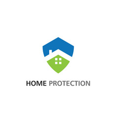 home protection logo vector image
