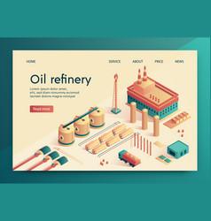 is written oil refinery slide vector image