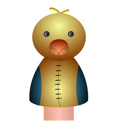 Isolated chicken puppet vector