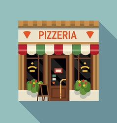 Italian Pizzeria Shopfront vector
