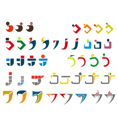 J alphabet symbols vector