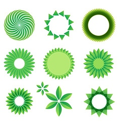 leaf Art Green Concept vector image