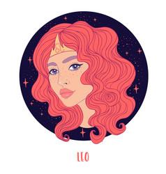 Leo astrological sign vector