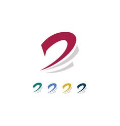 Leter d swirl logo vector