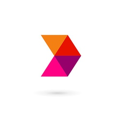 Letter d mosaic logo icon design template elements vector