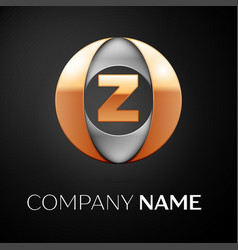 Letter z logo symbol in the colorful circle on vector