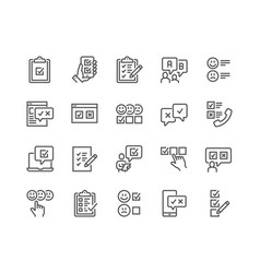 line survey icons vector image
