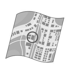 Location on the maprealtor single icon in vector