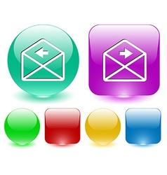 Mail left arrow vector