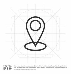 Map pin icon vector