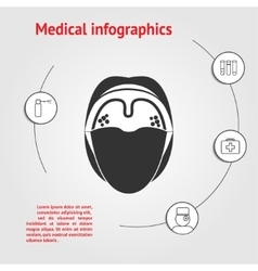 Medicine infographic template vector
