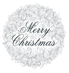Merry Christmas retro poster vector image