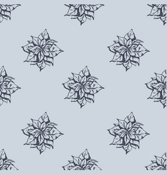 mistletoe seamless pattern hand drawn sketch vector image