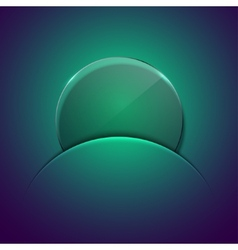 Modern circle glass background vector