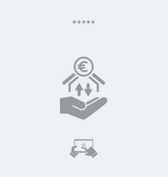 money transfer services - euro - minimal icon vector image