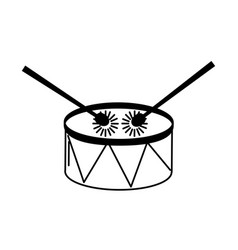 Music drum and sticks vector