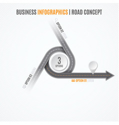 Navigation map infographic concept crossroad with vector