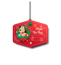 New year sale tag design holiday discount isolated vector