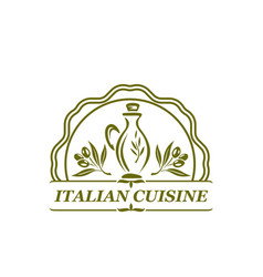 Olive oil olives icon for italian cuisine vector