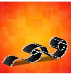 Orange background with film reel vector image