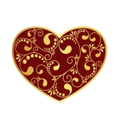 Ornamental heart isolated vector