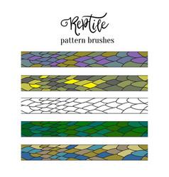 Pattern brush strokes reptile skin doodle vector