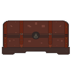 pixelated treasure chest vector image