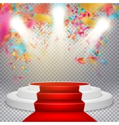 Podium on studio background EPS 10 vector image