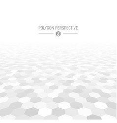 Polygon shapes perspective background vector