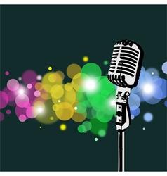 Retro Microphone abstract Spotlight vector