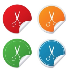 Scissors hairdresser sign icon Tailor symbol vector image