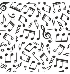 seamless background notes vector image