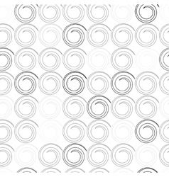 Seamless pattern with spiral curls vector