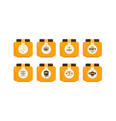 set template labels for honey vector image