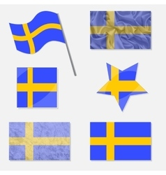 Set with Flags of Sweden vector
