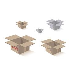 Shipping packing box vector